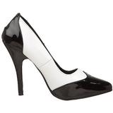 Noir Blanc 13 cm SEDUCE-425 escarpins à talons hauts