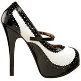 Noir Blanc 14,5 cm Burlesque TEEZE-02 Chaussures pour femmes a talon