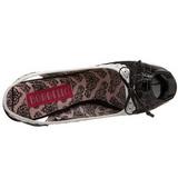 Noir Blanc 14,5 cm Burlesque TEEZE-17 Chaussures pour femmes a talon