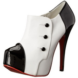 Noir Blanc 14,5 cm Burlesque TEEZE-20 Chaussures pour femmes a talon