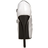 Noir Blanc 14,5 cm Burlesque TEEZE-23 Chaussures pour femmes a talon