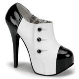 Noir Blanc 14,5 cm TEEZE-20 Chaussures pour femmes a talon