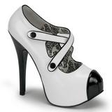 Noir Blanc 14,5 cm TEEZE-23 Chaussures pour femmes a talon