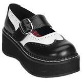 Noir Blanc 5 cm EMILY-302 chaussures lolita femmes semelles épaisses