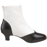 Noir Blanc 5 cm FLORA-1023 Bottines Femmes