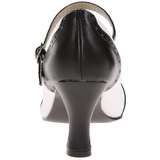 Noir Blanc 7,5 cm retro vintage FLAPPER-25 escarpins à talons hauts