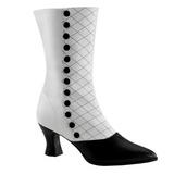 Noir Blanc 7 cm VICTORIAN-123 Bottines Femmes