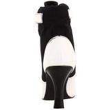 Noir Blanc 9,5 cm REFEREE-125 Bottines Femmes