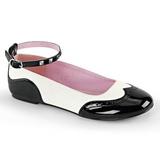 Noir Blanc STAR-22 chaussures ballerines gothique talons plates
