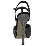 Noir Cristal Pierre 13 cm PRESTIGE-10 Chaussures Plateau Talon Haut