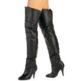 Noir Cuir 10,5 cm LEGEND-8868 bottes overknee femme