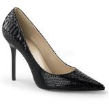 Noir Cuir 10 cm CLASSIQUE-20SP Escarpins Talon Aiguille Femmes
