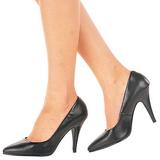 Noir Cuir 10 cm VANITY-420 Escarpins Chaussures Femme