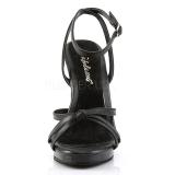 Noir Cuir 12 cm FLAIR-436 Sandales Femme a Talon