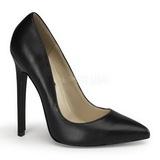 Noir Cuir 13 cm SEXY-20 Escarpins Chaussures Femme
