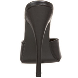 Noir Cuir 15 cm DOMINA-101 Mules Talons Hauts