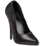 Noir Cuir 15 cm DOMINA-420 Chaussures Stilettos Escarpins Femmes