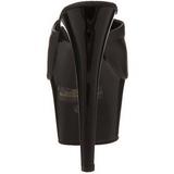 Noir Cuir 18 cm ADORE-701 Plateforme Mules Hautes