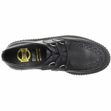 Noir Cuir 2,5 cm CREEPER-602 Chaussures Creepers Hommes Plateforme