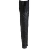 Noir Cuir 4 cm MAVERICK-8824 bottes cuissardes hommes
