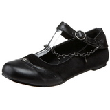 Noir DAISY-07 chaussures ballerines gothique talons plates