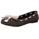 Noir DAISY-20 chaussures ballerines gothique talons plates