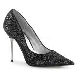 Noir Etincelle 10 cm APPEAL-20G grande taille chaussures stilettos