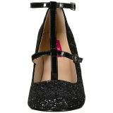 Noir Etincelle 10 cm QUEEN-01 grande taille escarpins femmes