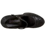 Noir Etincelle 11 cm MARYJANE-50G Escarpins Talon Haut Mary Jane