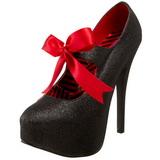 Noir Etincelle 14,5 cm Burlesque TEEZE-04G Chaussures pour femmes a talon