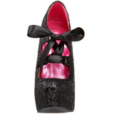 Noir Etincelle 14,5 cm Burlesque TEEZE-10G Platform Escarpins Chaussures