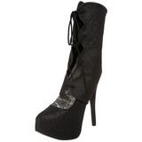 Noir Etincelle 14,5 cm Burlesque TEEZE-31G Platform Escarpins Chaussures