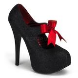 Noir Etincelle 14,5 cm TEEZE-04G Chaussures pour femmes a talon