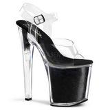 Noir Etincelle 20 cm XTREME-808G Chaussures Plateau Talon Haut