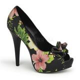 Noir Fleurs 13 cm LOLITA-11 Chaussures pour femmes a talon