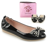Noir IVY-09 ballerines chaussures plates avec perles