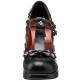 Noir Mat 10,5 cm CRYPTO-06 Chaussures Escarpins Gothique Plateforme