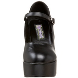 Noir Mat 11 cm MARYJANE-50 Mary Jane Escarpins Haut Talon