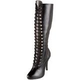 Noir Mat 12 cm ARENA-2020 Bottes à Lacets Femmes