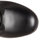 Noir Mat 12 cm SLUSH-225 Bottes à Lacets Femmes