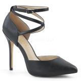 Noir Mat 13 cm AMUSE-25 Chaussures Escarpins de Soirée