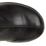 Noir Mat 13 cm BRAVO-100 Bottes Gothique Plateforme
