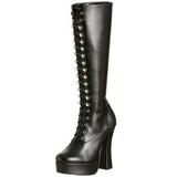 Noir Mat 13 cm ELECTRA-2020 Bottes Femmes pour Hommes