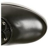 Noir Mat 13 cm Pleaser ELECTRA-2020 Plateforme Bottes Femmes