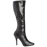 Noir Mat 13 cm SEDUCE-2000 Bottes Femmes pour Hommes