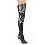 Noir Mat 13 cm SEDUCE-3000 bottes overknee femme