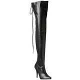 Noir Mat 13 cm SEDUCE-3063 bottes overknee femme