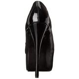 Noir Mat 14,5 cm Burlesque TEEZE-20 Chaussures pour femmes a talon