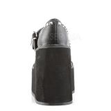 Noir Mat 14 cm SWING-03 Escarpins Talons Compensées