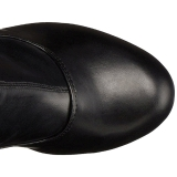 Noir Mat 15,5 cm DELIGHT-3000 Bottes Cuissardes Talons Hauts